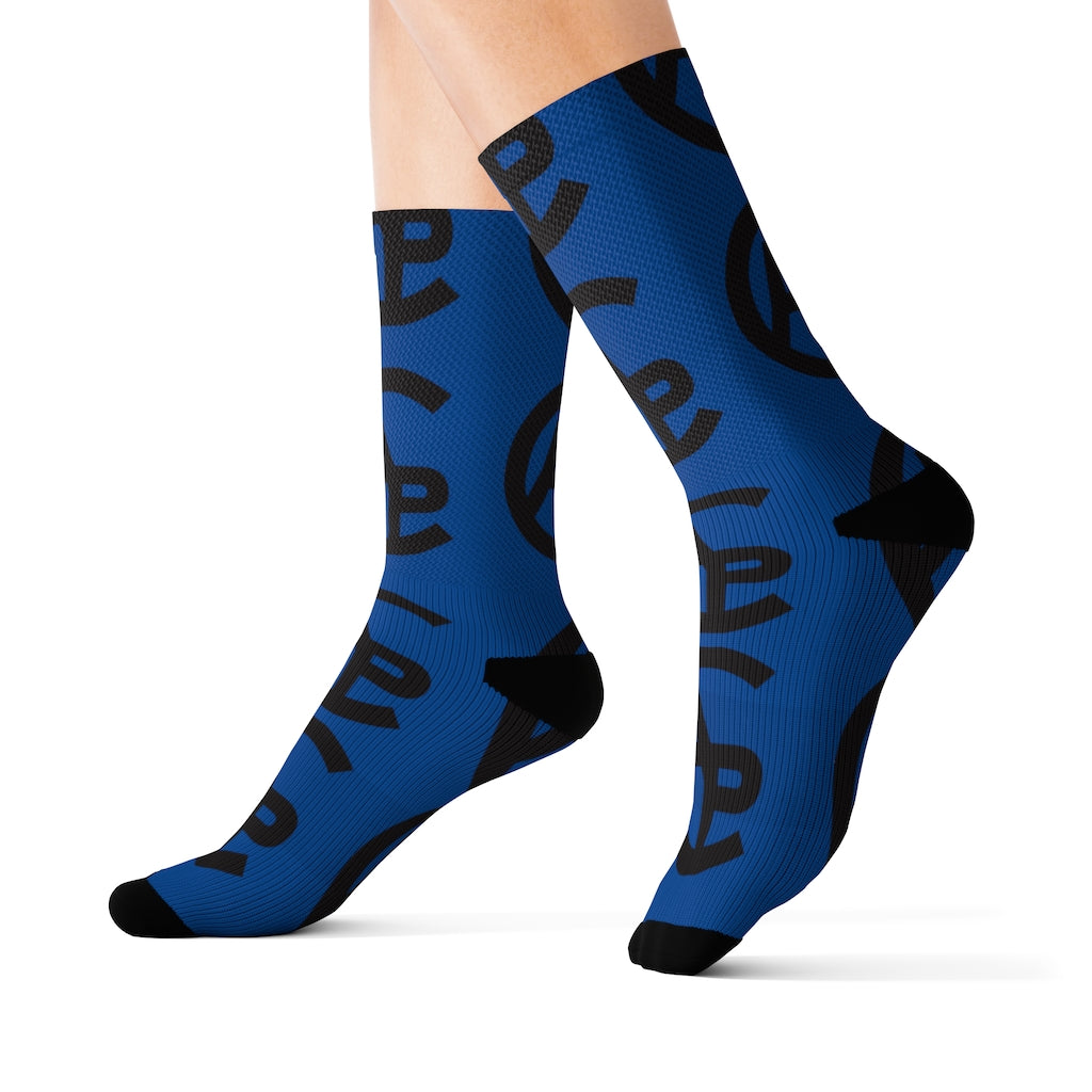 Colorado Adventure Point Blue Socks