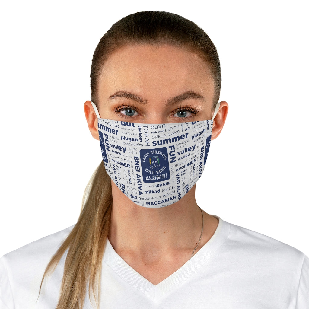 Wild Rose Alumni Collage Adjustable Face Mask