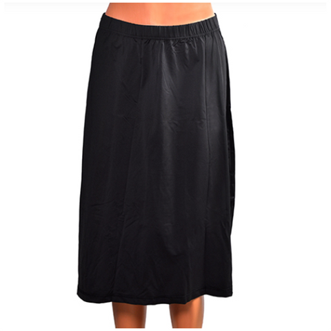 Below the Knee Length Swim Skirt Black - 28""