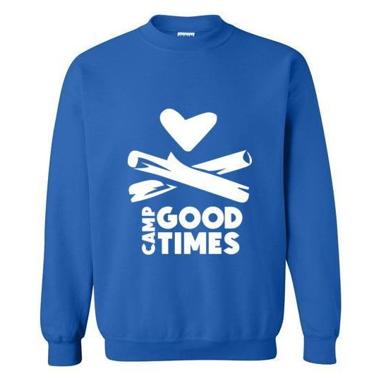 Camp Goodtimes Crewneck Sweatshirt - White Logo