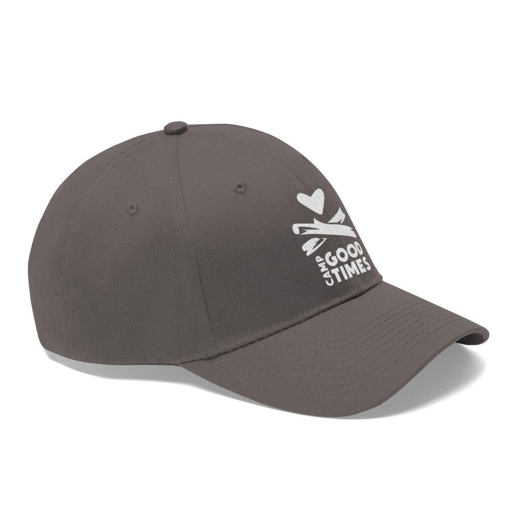 Camp Goodtimes Unisex Twill Hat - White Logo