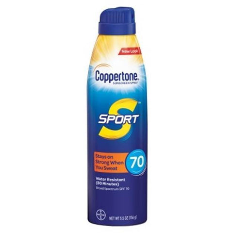 Coppertone Sunscreen Spray SPF#70 6 oz