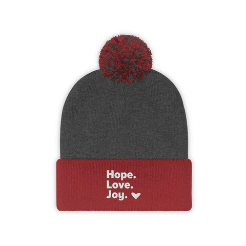 Goodtimes Hope Love Joy Pom Pom Beanie