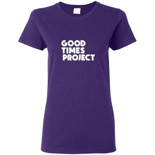 Goodtimes Project Women's Short-Sleeve T-Shirt - White Logo