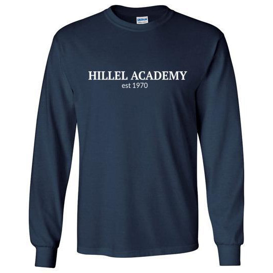 Hillel Academy Navy Long Sleeve T-Shirt