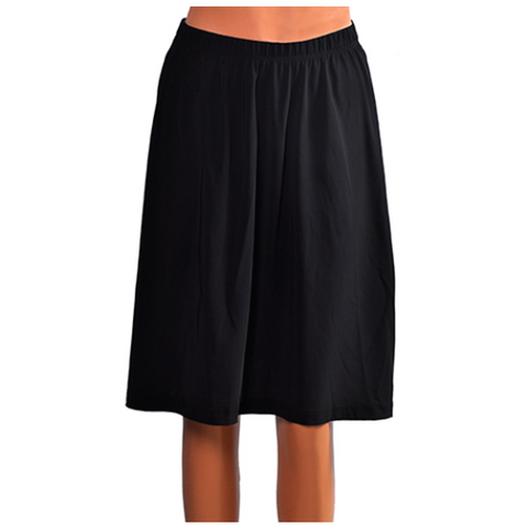 Knee Length Swim Skirt Black - 24""