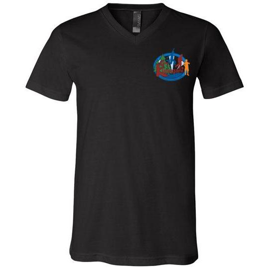 Kupugani Unisex Short-Sleeve V-Neck T-Shirt - Boys' Oval Logo