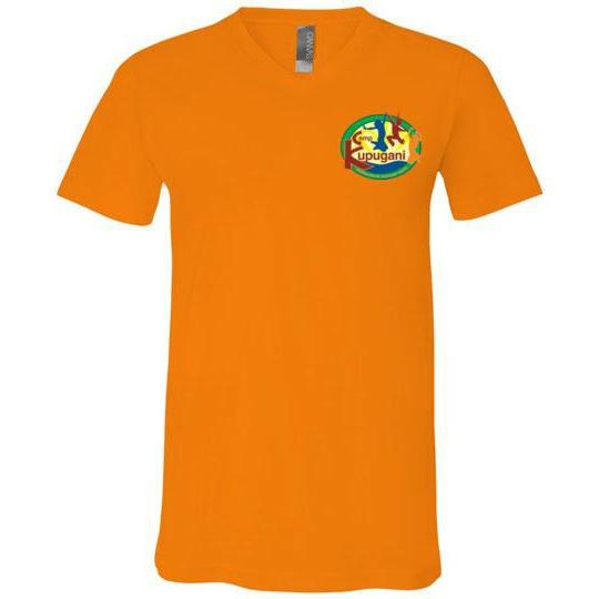 Kupugani Unisex Short-Sleeve V-Neck T-Shirt - Girls' Oval Logo