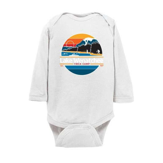 Lake Wenatchee Baby Long Sleeve Onesie