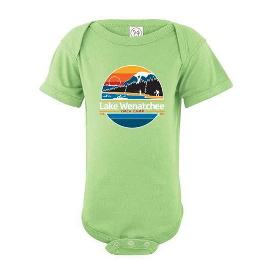 Lake Wenatchee Baby Short Sleeve Onesie