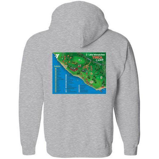 Lake Wenatchee Zip Hoodie - Map Logo