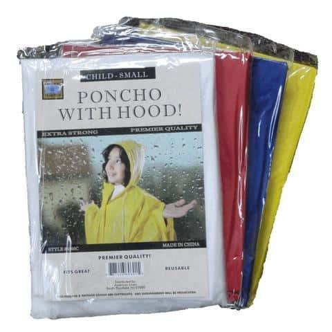 Lightweight Youth Rain Poncho