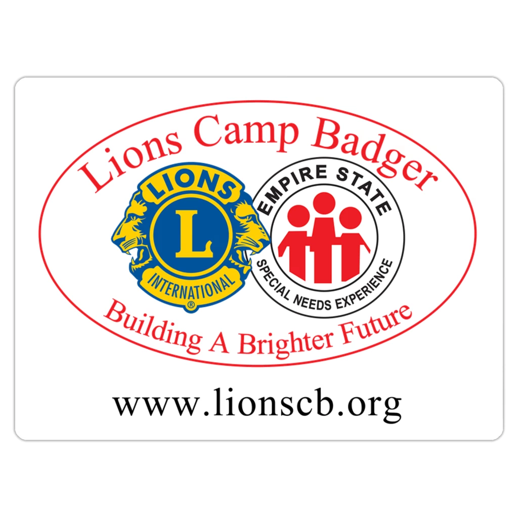 Lions Camp Badger Magnet