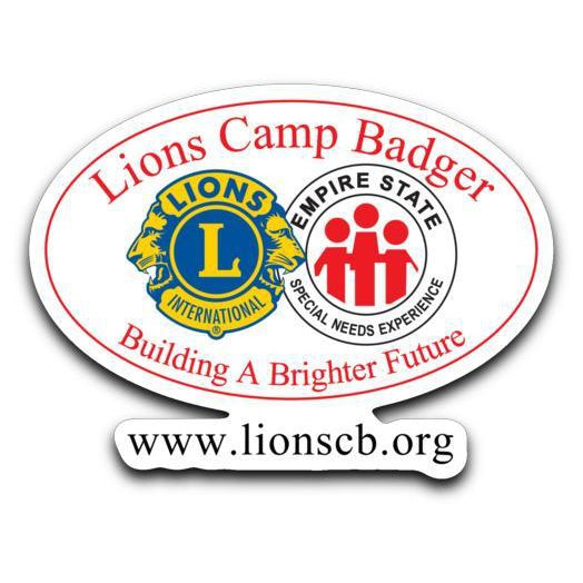 Lions Camp Badger Sticker Decal