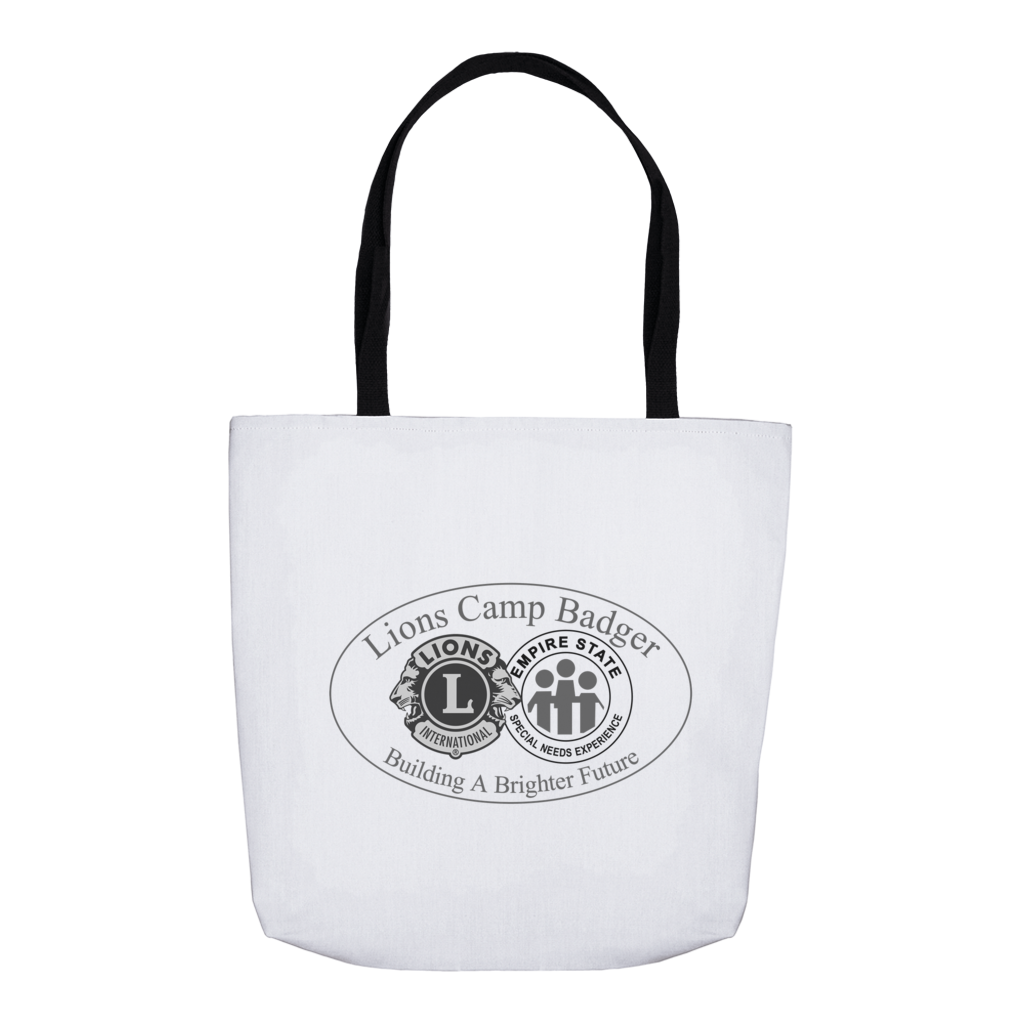 Lions Camp Badger Tote Bag - Black Logo