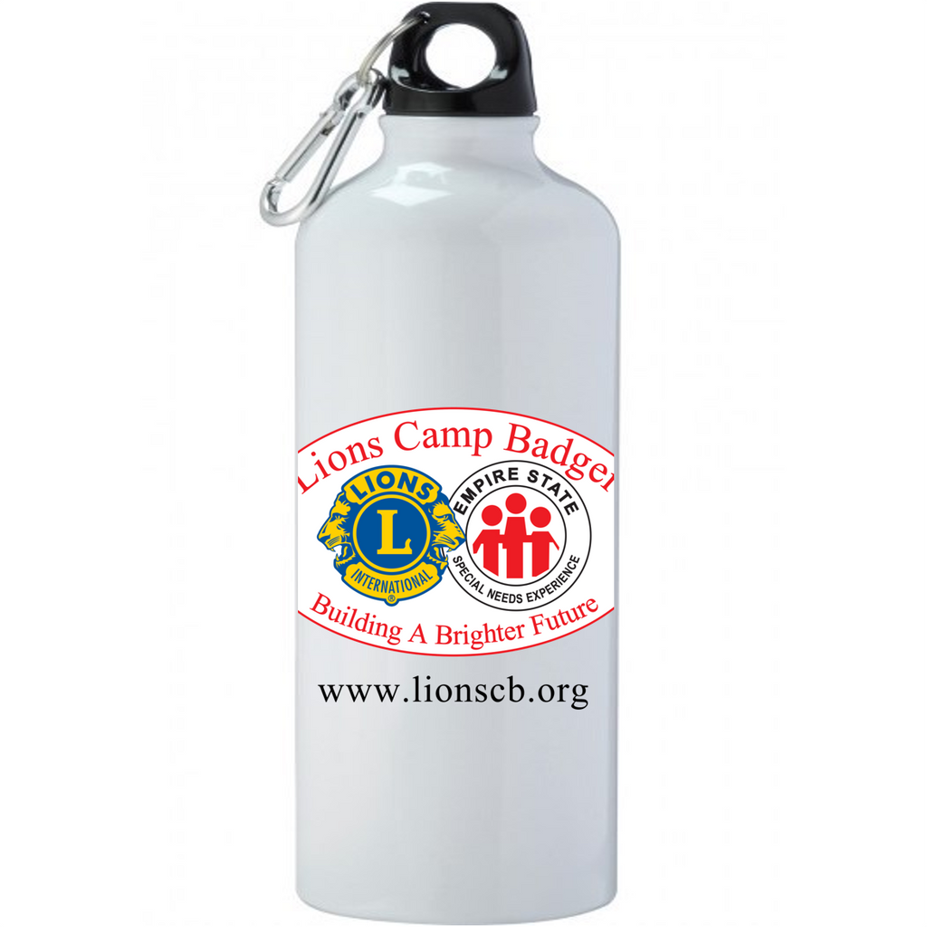 Lions Camp Badger Water Bottle - Color Logo