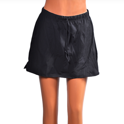 Mini Swim Skirt Black - 15""