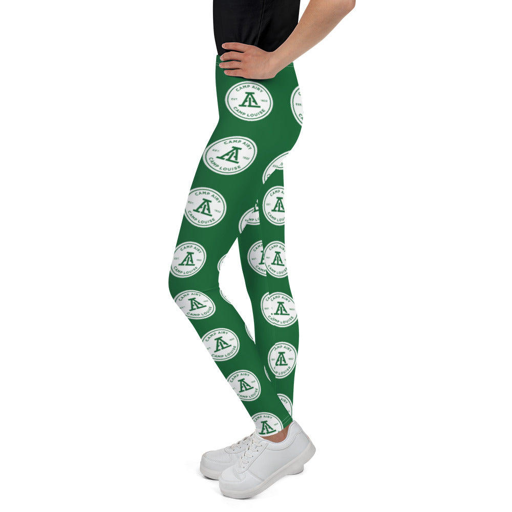 Airy Louise Green Tiled Youth Leggings