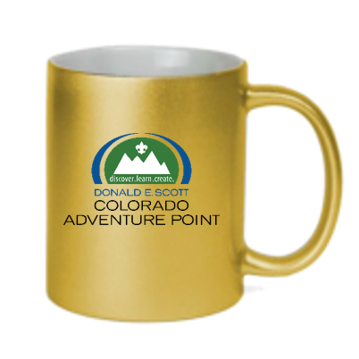 Colorado Adventure Point Gold Metallic Coffee Mug