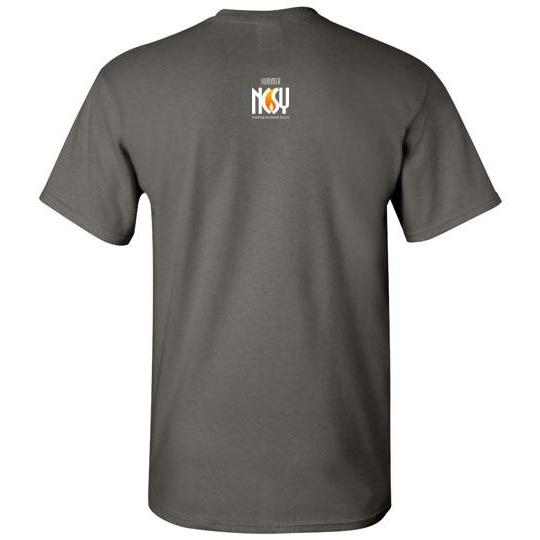 NCSY Summer Short Sleeve Crew Neck T-Shirt - Grey