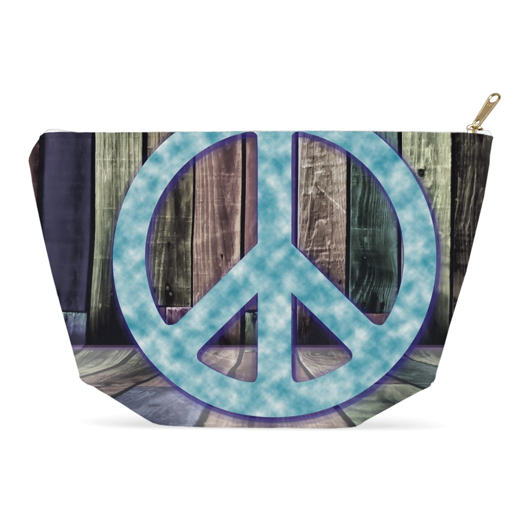 Peace Sign All-Purpose Bag - Pencil Case, Toiletries, Accessories