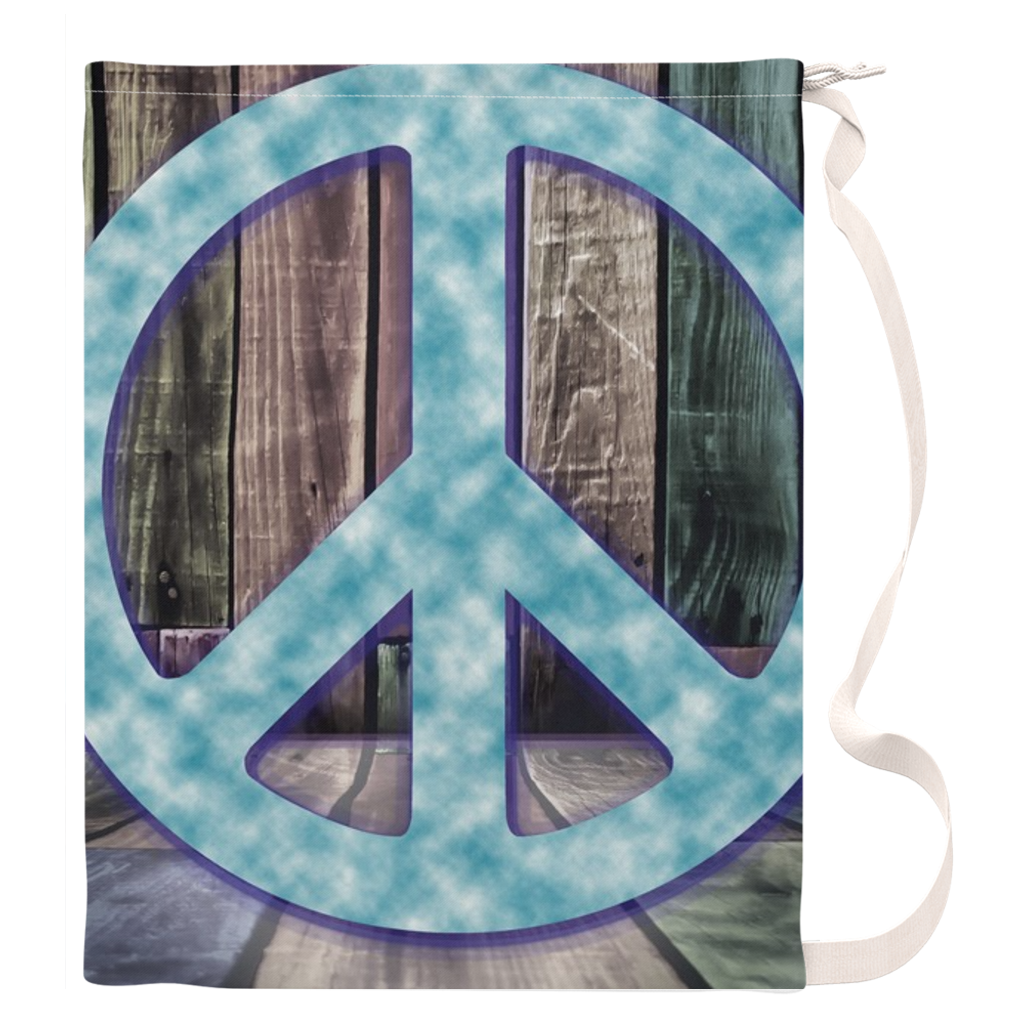 Peace Sign Laundry Bag
