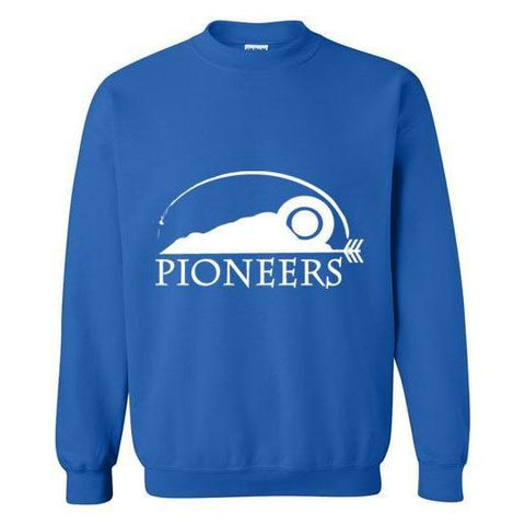 Pioneers Camp Crewneck Sweatshirt Blue