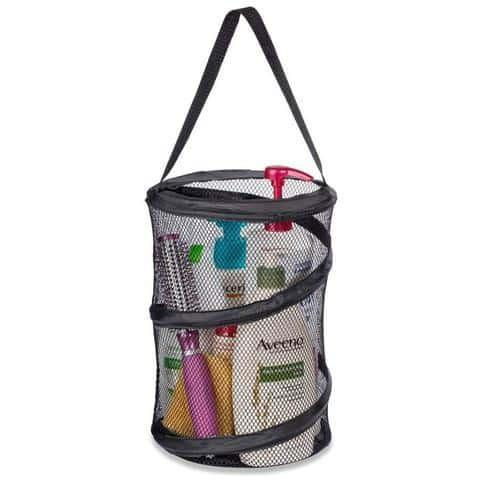 "Popup Shower Caddy Tote 8"" x 12"" black"