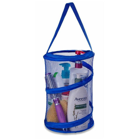 "Popup Shower Caddy Tote 8"" x 12"" blue"