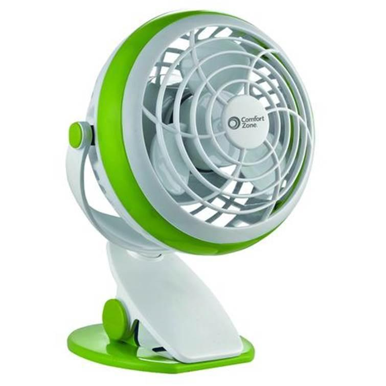 Portable Clip-On Fan - Battery Operated 4-Inch