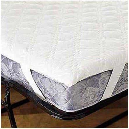 3-Ply Quilted Waterproof Mattress Pad Anchor Band Twin Size