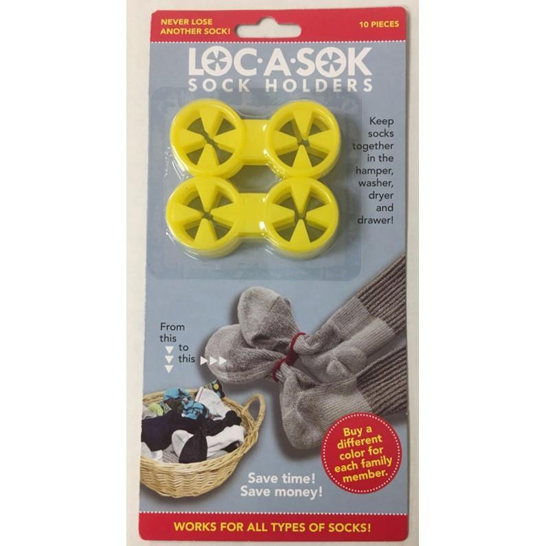 Sock Locks (10 pack) holders yellow