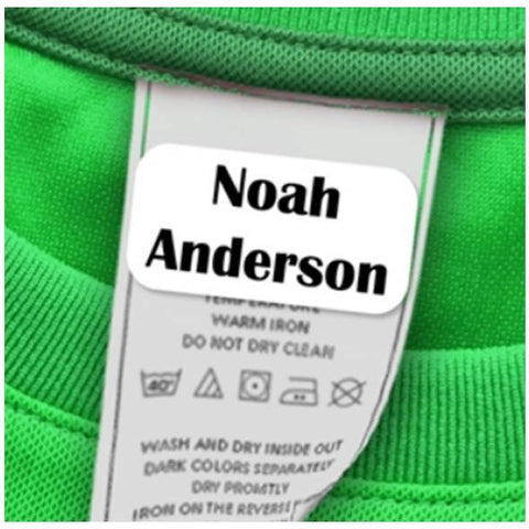 Stick-On Clothing Labels, Laundry Safe