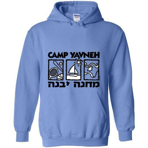 Yavneh Pullover Hoodie - 3 Boxes Logo Front
