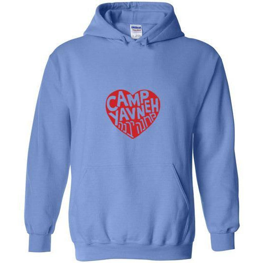 Yavneh Pullover Hoodie - Red Heart Logo Front