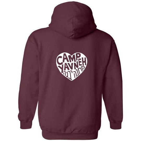Yavneh Pullover Hoodie - White Heart Back