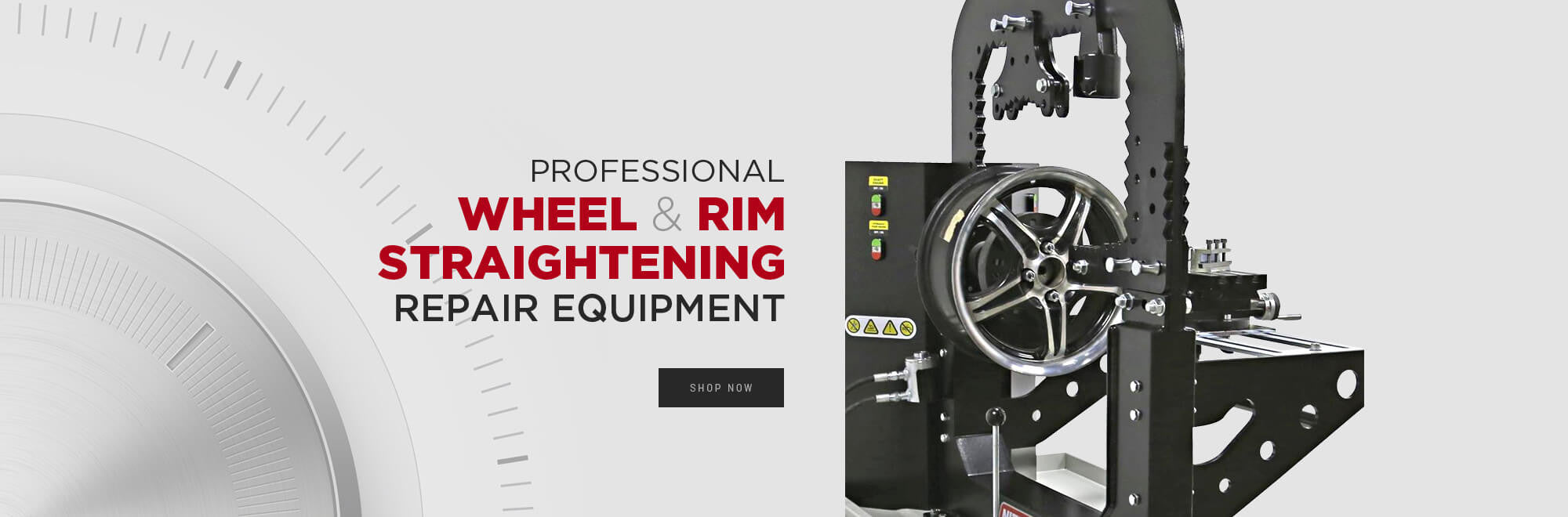 Professional wheel and rim straightening repair equipment