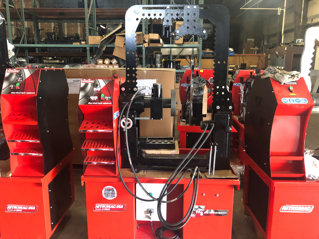 "F30 PRO Signature Series - 10"" to 30"" Hydraulic Rim Straightening Machine W/ 2 Rams & Overhead Bar"