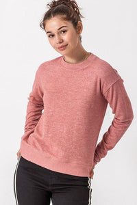 Ribbed Knit Hacci Top