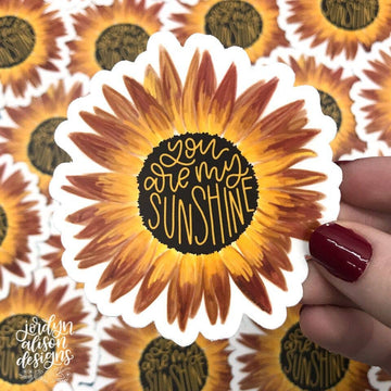 Jordyn Alison Designs - You Are My Sunshine Red, Vinyl Sticker