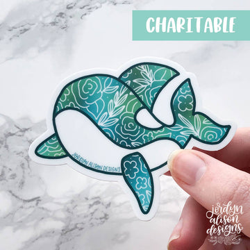 Jordyn Alison Designs - Whale, Charity Vinyl Sticker