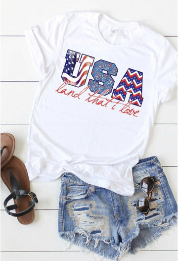 USA Land That I Love Tee