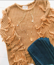 Mocha Fringe Sweater