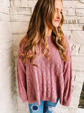 Mauve Crochet Sweater