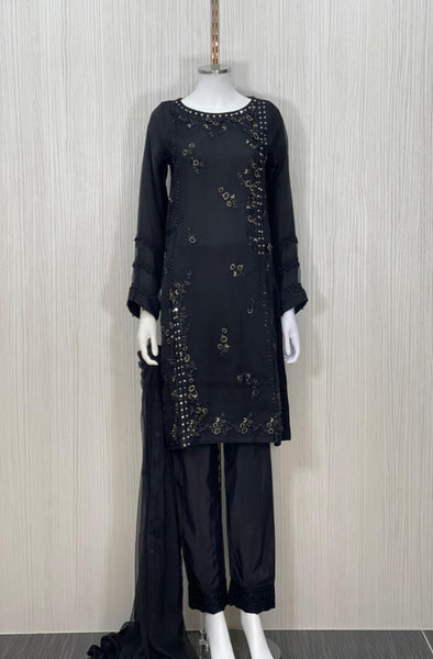 ZCLF 9862  (BLACK) NEW PARTY WEAR