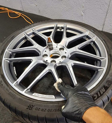 AMG wheel, ceramic coating, drexler ceramic, c63, e63, amg