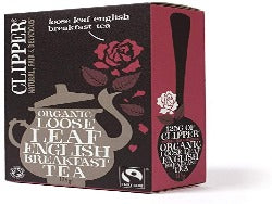 Clipper organic loose leaf English breakfast tea