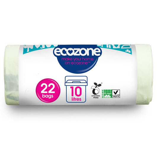 Ecozone Compostable Caddy Liner 10L  22 bags