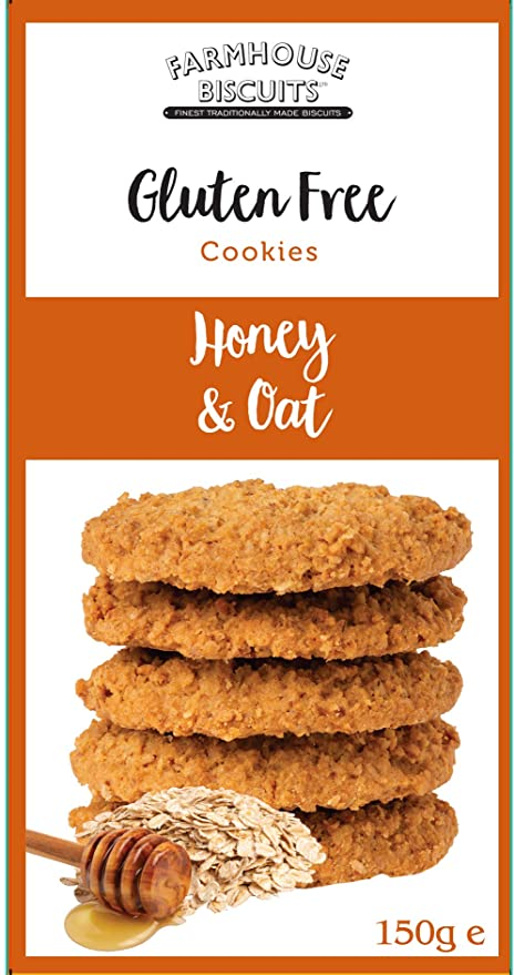 Farmhouse Biscuits Gluten Free Honey & Oat Cookies 150g