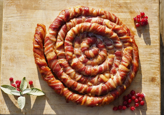 Christmas Pigs in Blankets Pinwheel